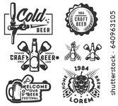 set of beer craft beer ...   Shutterstock .eps vector #640963105