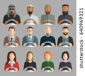different avatar drivers with... | Shutterstock .eps vector #640969321