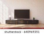 minimalistic living room... | Shutterstock . vector #640969351