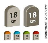 3d milestone boundary stone... | Shutterstock .eps vector #640970599