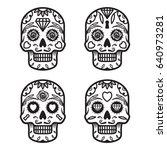 Set Of Monochrome Skulls