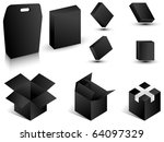 black paper boxes. vector...