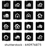 house type vector icons for... | Shutterstock .eps vector #640976875