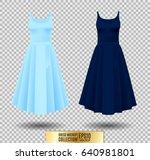 women's dress mockup collection.... | Shutterstock .eps vector #640981801
