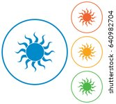 sun icon. vector illustration   | Shutterstock .eps vector #640982704