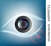camera lens is in the form of a ... | Shutterstock .eps vector #640990711