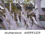 A tree of messages - stock photo