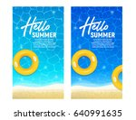 hello summer web banner... | Shutterstock .eps vector #640991635