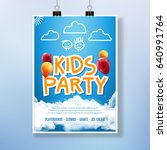 vector card kids party event.... | Shutterstock .eps vector #640991764