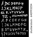 hand drawn alphabet letters... | Shutterstock .eps vector #640993354
