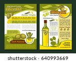 olive oil natural product... | Shutterstock .eps vector #640993669