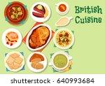 british cuisine healthy food... | Shutterstock .eps vector #640993684