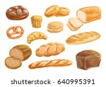 bread  bakery product... | Shutterstock .eps vector #640995391