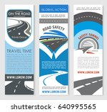 road highway banner template...   Shutterstock .eps vector #640995565