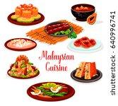 malaysian cuisine restaurant... | Shutterstock .eps vector #640996741