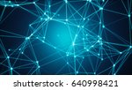 abstract connected dots.... | Shutterstock . vector #640998421