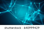 abstract connected dots.... | Shutterstock . vector #640999429