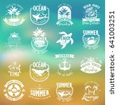 summer typography design... | Shutterstock .eps vector #641003251