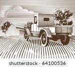 Woodcut Style Illustration Of...