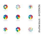 collection of 9 design elements ... | Shutterstock . vector #64100656