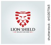 lion shield logo design... | Shutterstock .eps vector #641007565