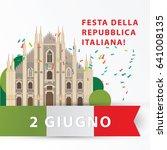 greeting card design for... | Shutterstock .eps vector #641008135