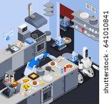 robot isometric professions... | Shutterstock .eps vector #641010841