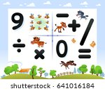 collection number for kids ...   Shutterstock .eps vector #641016184