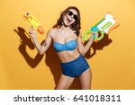 image of happy young woman in... | Shutterstock . vector #641018311