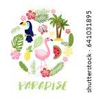 summer lettering .bright... | Shutterstock .eps vector #641031895