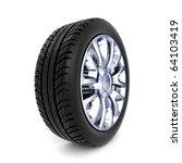 3d wheel isolated on white... | Shutterstock . vector #64103419