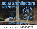 solar energy industry 4.0... | Shutterstock . vector #641034391