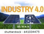 solar energy yellow and orange... | Shutterstock . vector #641034475