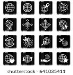 globes web icons for user... | Shutterstock .eps vector #641035411