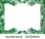 green christmas tree branch... | Shutterstock . vector #64104646