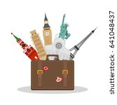 travel or tourism concept.... | Shutterstock . vector #641048437