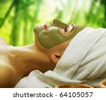 Woman In Spa.mud Mask