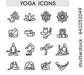 yoga icons | Shutterstock .eps vector #641052049