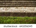 shot of rain falling on clay... | Shutterstock . vector #641056345