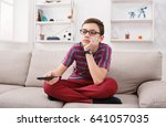 nothing interesting to watch  ... | Shutterstock . vector #641057035