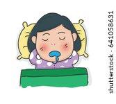 sleeping doodles | Shutterstock .eps vector #641058631