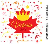 happy victoria day sticker and... | Shutterstock .eps vector #641061361