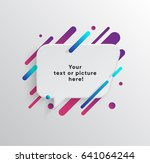 vector background with paper... | Shutterstock .eps vector #641064244