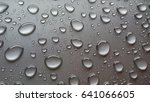 big water drops on metall...