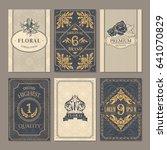 calligraphic vintage floral... | Shutterstock .eps vector #641070829