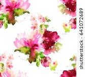 seamless summer pattern with... | Shutterstock . vector #641072689