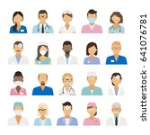 medical staff icons. doctors... | Shutterstock . vector #641076781