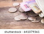 closeup coins and money in a... | Shutterstock . vector #641079361