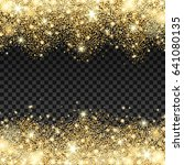 golden sparkles drop background.... | Shutterstock .eps vector #641080135