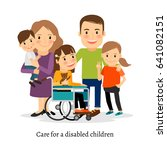 family with special needs... | Shutterstock . vector #641082151